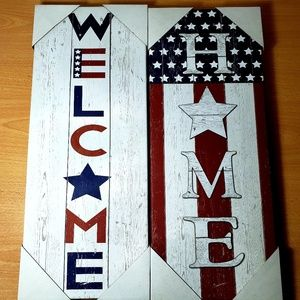 Other - 🆕️🇺🇸 2 American Flag Wall Art Canvas Prints 🆕️